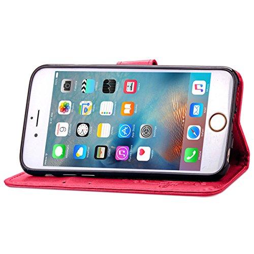 iPhone 6S Plus Coque, iPhone 6 Plus Coque, Lifeturt [ Bleu ] Leather Case Wallet Flip Protective Cover Protector, Etui de Protection PU Cuir Portefeuille Coque Housse Case Cover Coquille Couverture av E02-Se leva