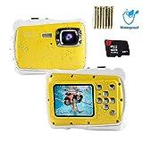 Epeolatry Epeolatry Kamera für Kinder wasserdichte Kinderkamera 12MP HD Fotos Unterwasser Camcorder mit 8X Digital Zoom Flash Mic und 8G Speicherkarte & 3 Nicht wiederaufladbare Batterien
