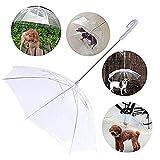 Jamisonme Pet Umbrella, Pieghevole guinzaglio per Cani da assemblaggio Protegge, Trasparente Ombrello Protettivo Neve Protettiva Meteo Umido