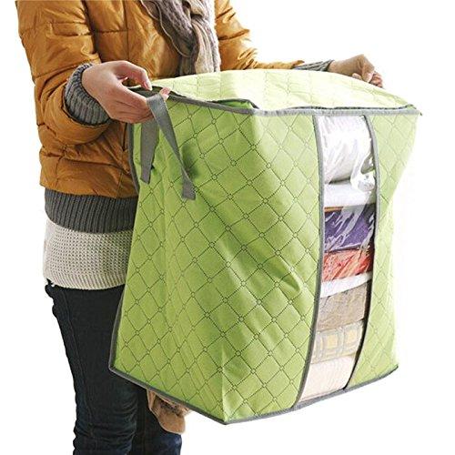 Preisvergleich Produktbild samLIKE Größe: 48 * 30 * 50cm Be material of non-woven fabrics Hot Sale Storage Box Portable Organizer Non Woven Underbed Pouch Storage Bag Box (gelb)