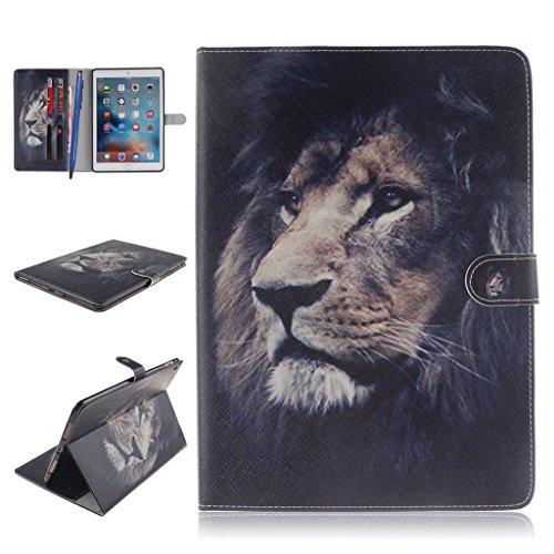 iPad Pro Funda,Careynoce Atrapasueños León Tigre Pattern Flip PU Cuero Carcasas Funda Case Cover para Apple iPad Pro iPad 7 (9.7 pulgada) - León