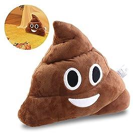 Bestomz, cuscino con emoji, peluche, giocattolo, 35x 35x 10cm (con emoticon pile of poo = mucc