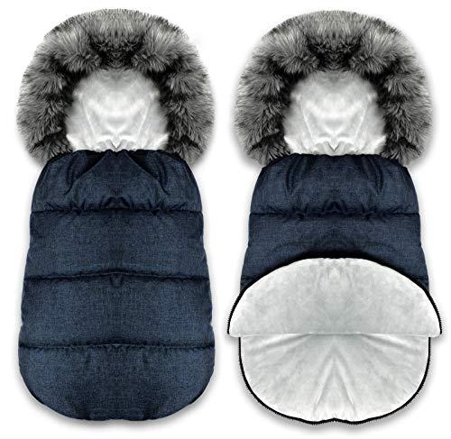 BlueKitty Fußsack, Winterfußsack, Schlafsack, Schlitten, Wasserdicht, Wasserabweisend, Winter, Herbst, 90 cm -
