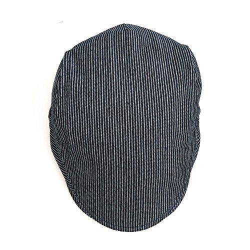 Anshili Unisexe rayé épaisseur Caps Motif de Coton Chapeau C