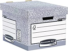 Bankers Box 00810-FF System Storage Box, Standard - Grey, Pack of 10
