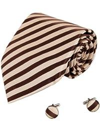 YAB1A04 multicolor Rayas Moda Hombres Regalo corbata de seda Set 2PT por Y&G