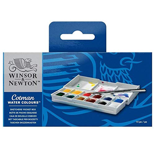 Winsor & Newton acquerelli Cotman confezione tascabile 'Sketchers'12 mezzi godets