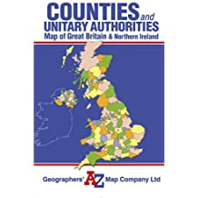 Great Britain Counties and Unitary Authorities Map