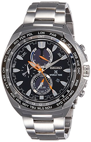 Seiko Men's Chronograph Solar Powered Watch with Stainless Steel Strap – SSC487P1