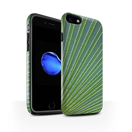 STUFF4 Glanz Harten Stoßfest Hülle / Case für Apple iPhone 8 / Vene Muster / Pflanzen/Blätter Kollektion Wellenförmig