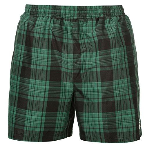 Slazenger da uomo a quadretti Swim Pantaloncini Estate Spiaggia Acqua Piscina costume pantaloni, Green Check, XXXXL