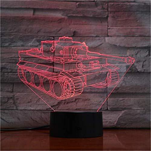 WJPDELP-YEDE 7 Panzer Bunte Lichter Geschenke Weihnachten Nacht Lichter Neuheit LED Tischlampen Glühen Lampe Schreibtisch für Kinder -