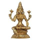 Goddess Lakshmi Brass Statue Hindu Idol Puja Gifts Indian Art 8 Inch