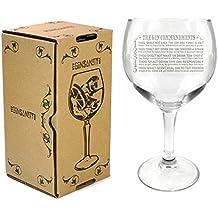 Ginsanity The Gin Collective Coupe de Verres Gin & Tonic Ballon Cocktail/Lunettes Dans Une Boîte Cadeau [545ml] - The Gin Commandments