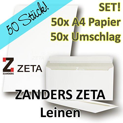 50-sets-zanders-zeta-gohrsmuhle-papier-leinen-struktur-din-a4-umschlage-din-lang-fur-hochwertige-dok