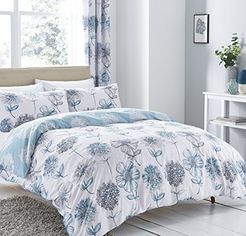 Catherine Lansfield Banbury Floral Double Duvet Set - Blue