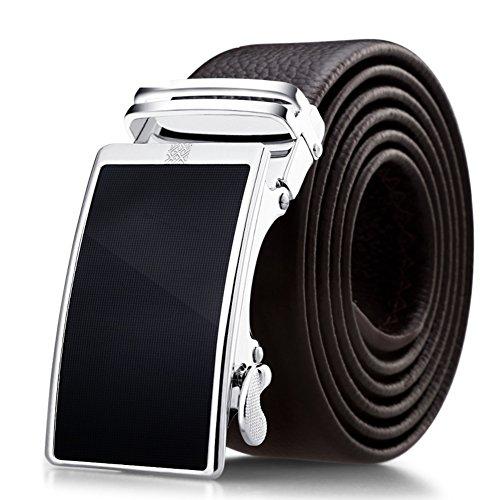 cinturon de hombre/Correa de cuero hebilla automática/Cinturones casuales de negocios-H 120cm(47inch)