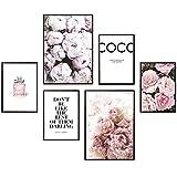 Heimlich Premium Poster Set | Stilvolles Set mit passenden Bilder als Wohnzimmer Deko | 2 x DIN A3 & 4 x DIN A4 - ca. 30x40 & 20x30 | Auch mit Bilderrahmen » Coco «