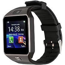 Kivors Smartwatch Nuovo Orologio DZ09 Supporta Schede TF per IOS Android Samsung Sony LG HTC Iphone7/6s/6/5s/5 da Polso Fitness Bluetooth Touch Screen Fotocamera con Slot SIM Card 2.0.