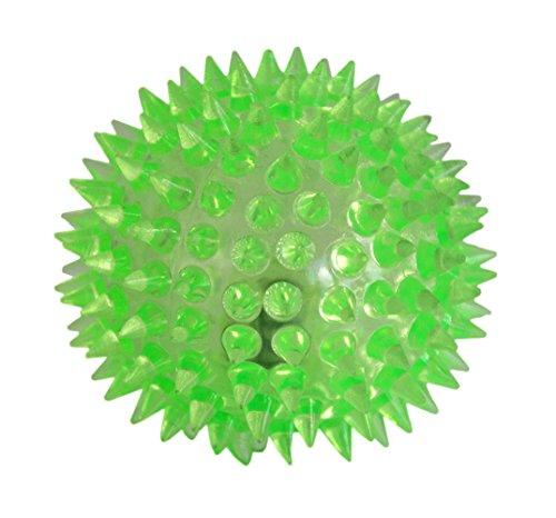 LED Bola para los perros Bola del masaje Bola Antiestrés con efecto de luz LED de color verde por la marca PRECORN