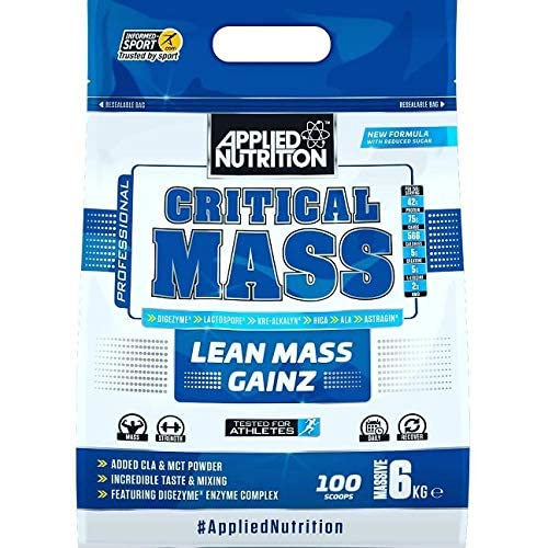 Applied Nutrition Critical Mass Professional Protein Powder, High Calorie Weight Gainer, Low Sugar, Informed...