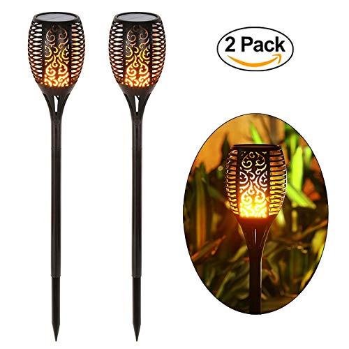 Solar Licht Garten Lampe Pfad Tiki Taschenlampen Lichter Tanzen Flamme Beleuchtung 96 LED Flackern Tiki Taschenlampen Im Freien Wasserdichte Lampen