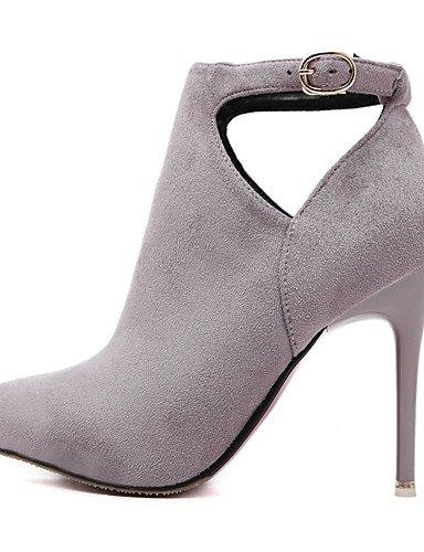 CU@EY Da donna-Stivaletti-Casual-Comoda / Stivaletto-A stiletto-Finta pelle-Nero / Rosso / Grigio gray-us5 / eu35 / uk3 / cn34