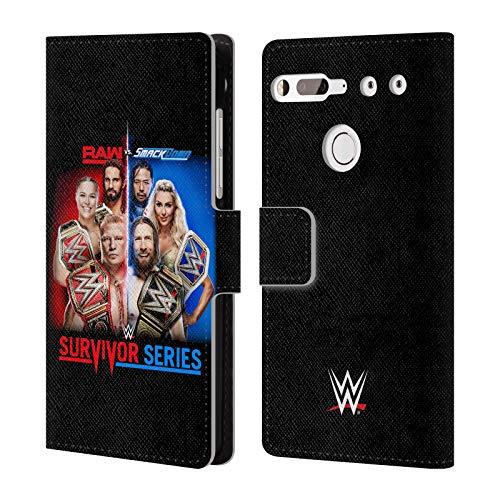 Head Case Designs Offizielle WWE Raw Versus Smackdown 2018 Survivor Serien Brieftasche Handyhülle aus Leder für Essential PH-1