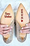Personalisierter Schuhsticker 'Herr und Frau mit Datum' - viele Farben