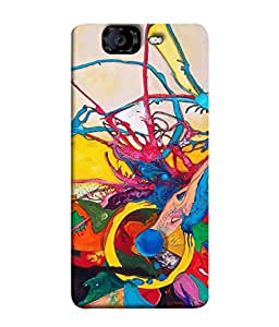 99Sublimation Designer Back Case Cover For MICROMAX CANVAS KNIGHT A 350 Oil Brush Paint Design