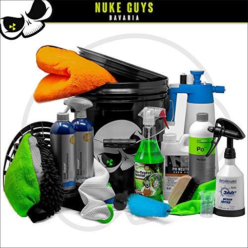 Nuke Guys professionelles Auto Wäsche Set für Innenreinigung/Außenreingung/Glasreinigung/Felgen - GritGuard - ValetPro - Liquid Elements - Koch Chemie - Tuga - Kwazar - Detailmate - Voodoo Ride