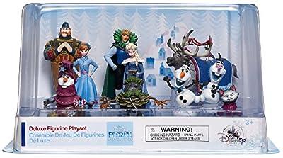 Disney Lote 10 Personajes PVC Frozen Aventura Olaf por Disney