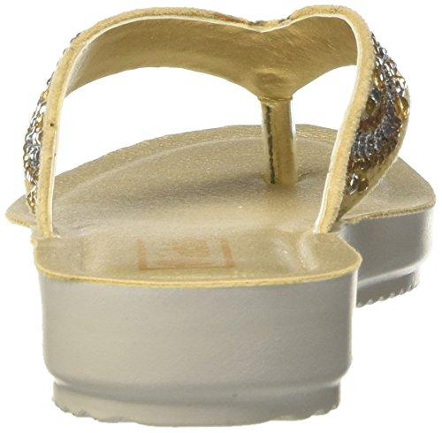 INBLU Damen Bamby Flops Beige (Sabbia)