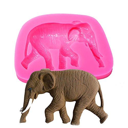 Elefante Forma 3d Fondant molde de silicona vela chocolate jabón Moldes Azúcar Craft herramientas moldes