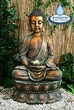 Buddha Brunnen mit Beleuchtung und drehender Kugel