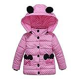Cappotto Bambino Topgrowth Giubbino Bimbo Invernale Giacca Bambina Cappotti Spesso Ragazza Imbottito Punto Bowtie Hoodie Jacket