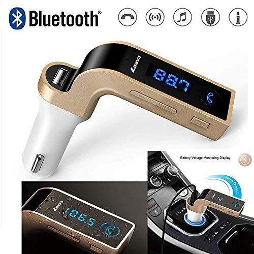 Technuv CarG7 LCD Bluetooth Car Charger FM Kit MP3 Transmitter USB Handsfree Mobile