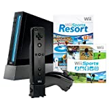 Wii Console (Black) Bundle W/Sports Resort