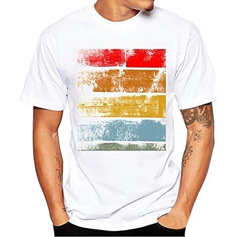 Tank Top Longra® Men Print Tees Short Sleeve Shirt Cotton