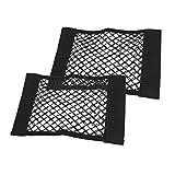 SENZEAL 2X Kofferraumnetz Koffenrraum Gepäcknetz für Universal Auto Netz,Magic Mesh Tasche für Auto SUV Schwarz