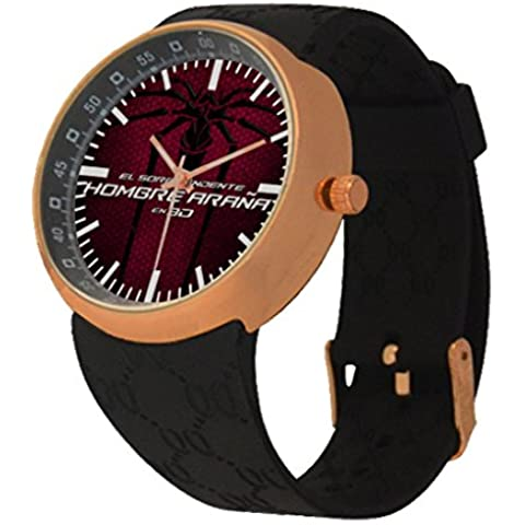 Oksana generic print Men's Spider Mancustom Rose Gold Resin Strap Watch