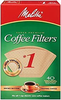 No. 1 Cone Coffee Filter In Natural Brown 40 Ct (Pack of 6) by Melitta In