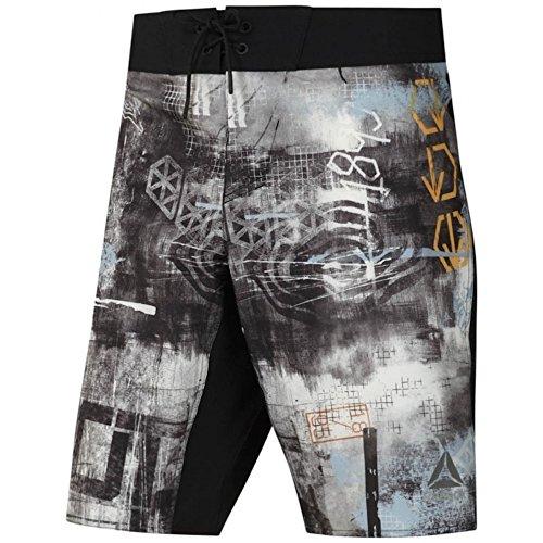 Reebok Srm Board Short - Pantaloncini Uomo, colore Nero, taglia S