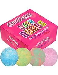 Ensemble cadeau BOMB BATH pour les filles: bonne idée pour les filles de tout âge - comprend 4 bombes de bain fruitées extra larges. Fabriqué à la main au Royaume-Uni