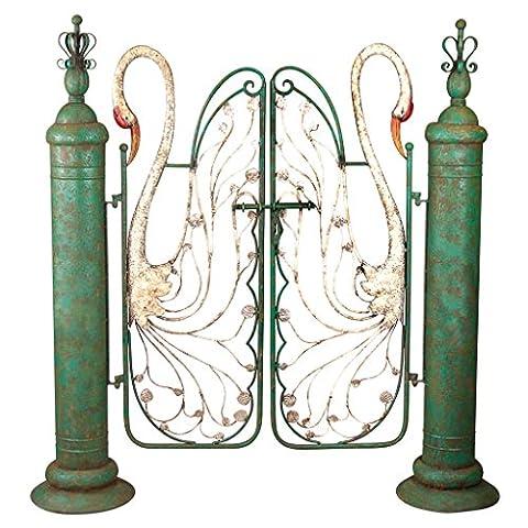 Design Toscano Swan Serenade Entryway Metal Garden Gate