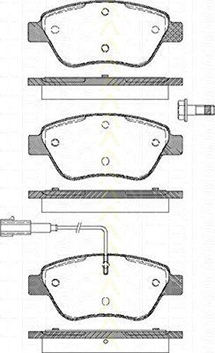Triscan 8110 15019 - Kit Pastiglie Freno, Freno A Disco