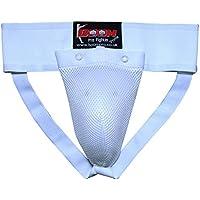 BOOM Pro–Coquilla de boxeo taza pantalla abdominales para hombre correas de críquet de boxeo MMA Muay Thai, hombre, blanco