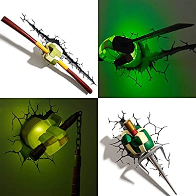 New 3D FX LED Wall Deco. Night Light Teenage Mutant Ninja Turtles Weapon series