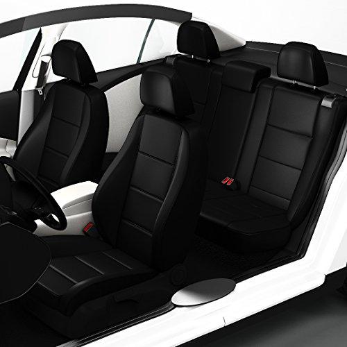Preisvergleich Produktbild ZACASi - Mercedes E-Klasse W212 - Sitzbezüge in Lederoptik passgenau nach OEM-Design; Komplettset Sattlerbezüge von SEAT-STYLER aus Lederimitat