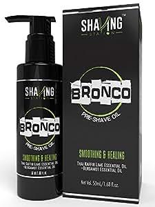 Shaving Station - Pre Shave Oil - Paraben & Sulphate Free - 50ml - Thai Kafir Lime & Bergamot